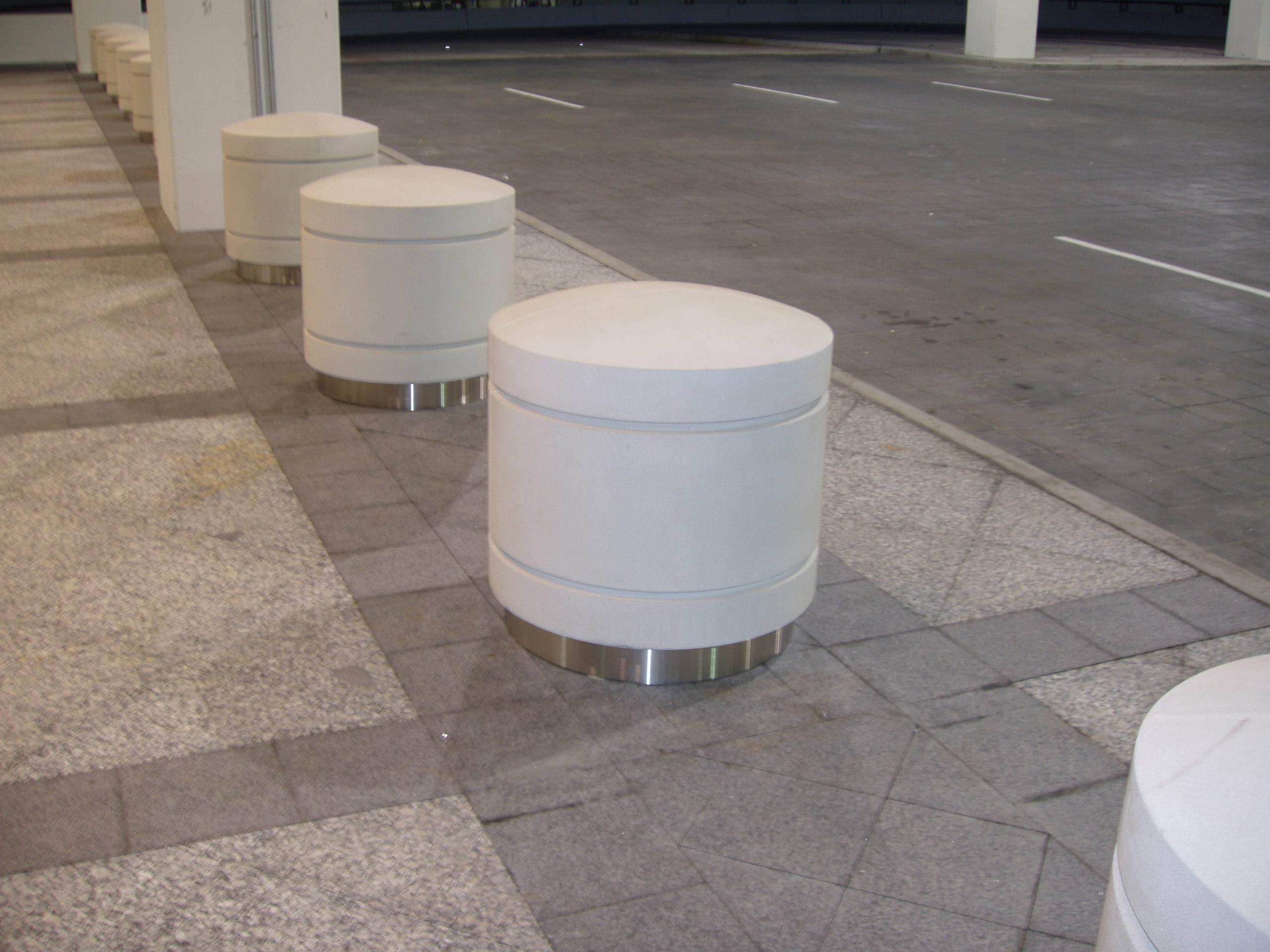 Permanent Architectural Fiberglass Bollards