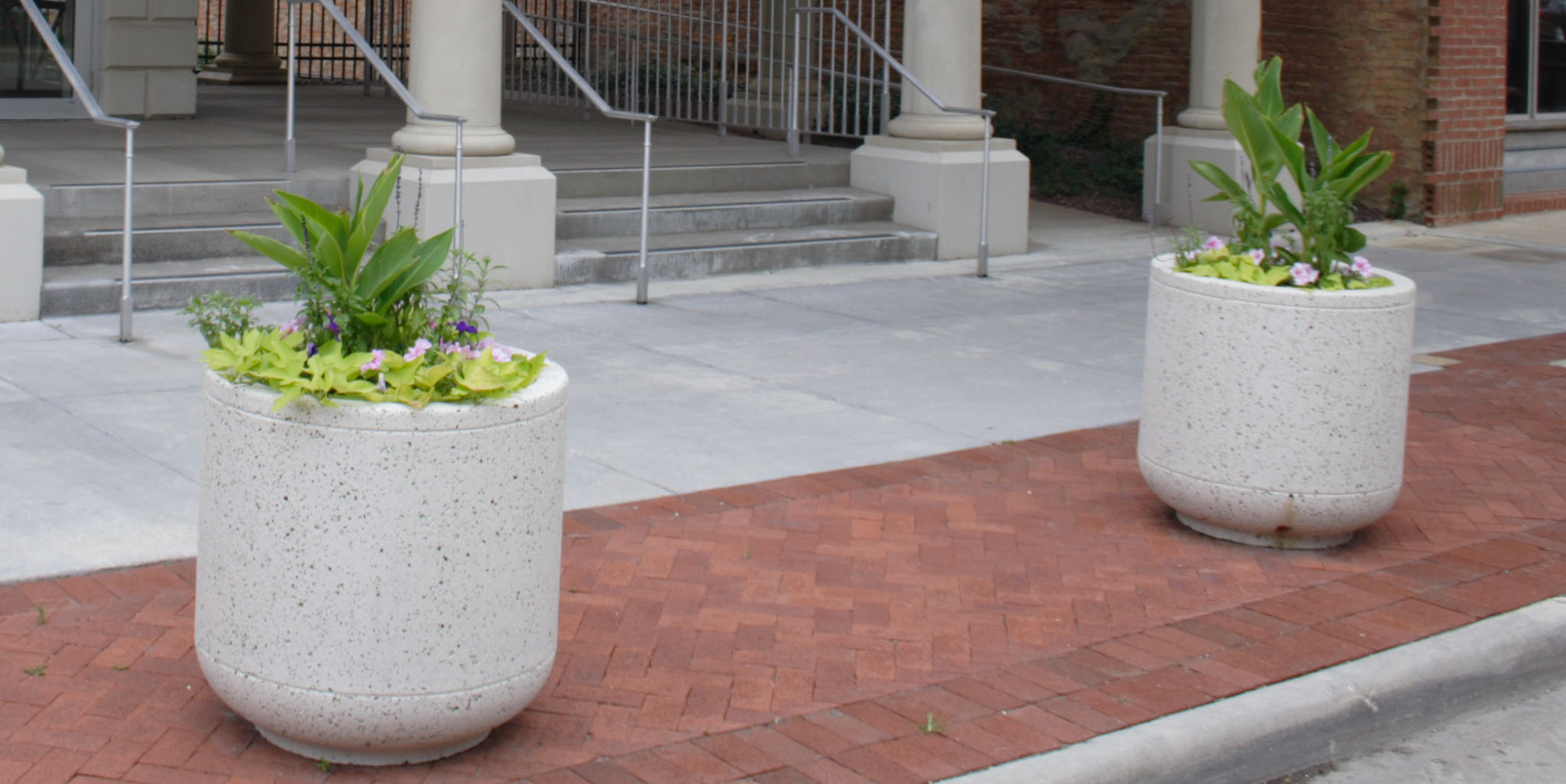 Architectural Fiberglass Planter Bollards