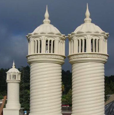 Architectural Fiberglass Chimney Caps