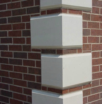 Architectural fiberglass quoins for Decorative quoins
